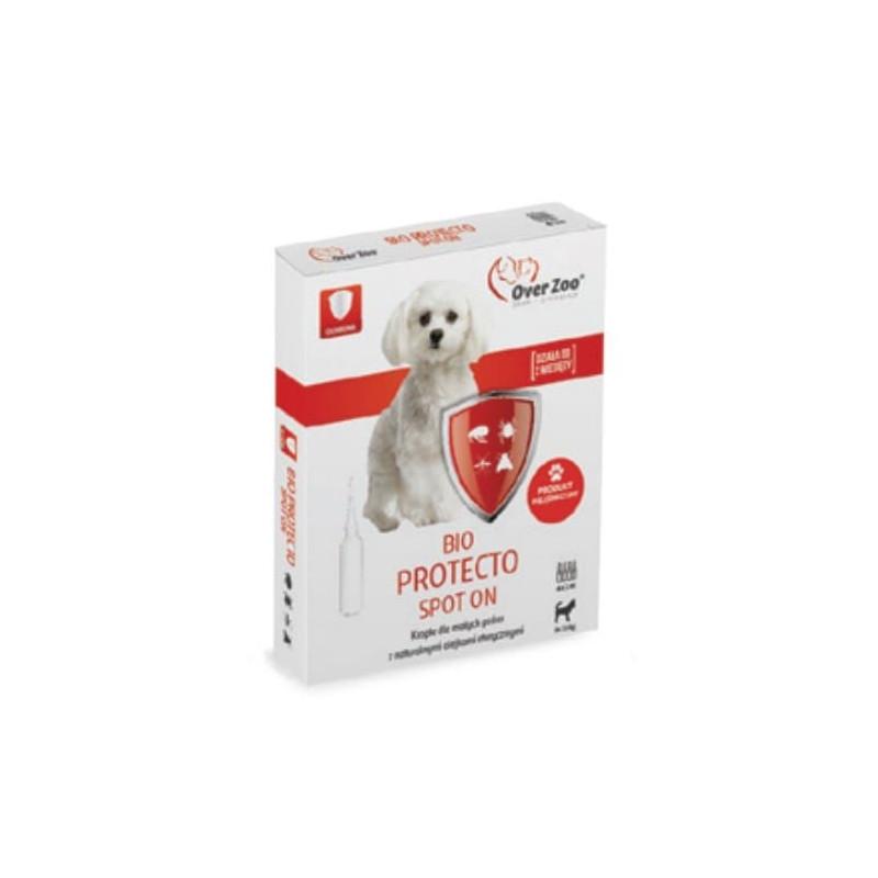 OVER ZOO BIO PROTECTO Krople pchły kleszcze dla małych psów do 10kg 4x1ml
