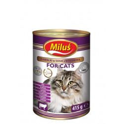 MILUŚ Mokra karma dla kota wołowina 415g