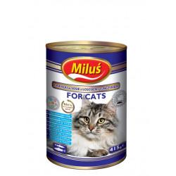 MILUŚ Mokra karma dla kota łosoś i tuńczyk 415g