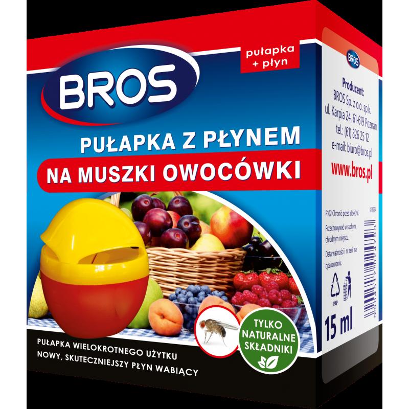 BROS Pułapka z płynem na muszki owocówki 15ml