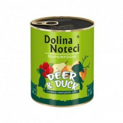DOLINA NOTECI Superfood jeleń i kaczka 800G