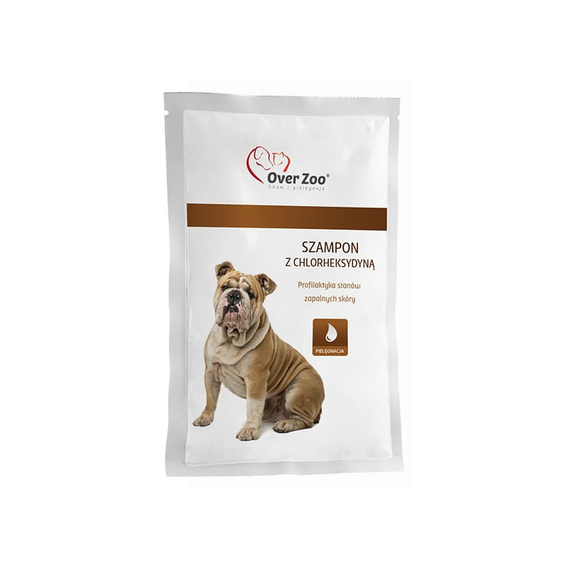 OVER ZOO Szampon z chlorheksydyną psy/koty 20 ml