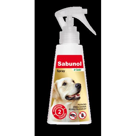 SABUNOL spray przeciw pchłom i kleszczom 100 ml