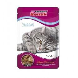 BENEK Karma dla kota Adult Królik w sosie 100g
