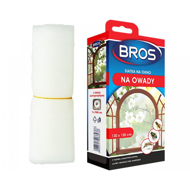 BROS Siatka moskitiera na okno biała 130x150cm