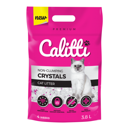 CALITTI CRYSTALS Żwirek silikonowy dla kota 3,8 L