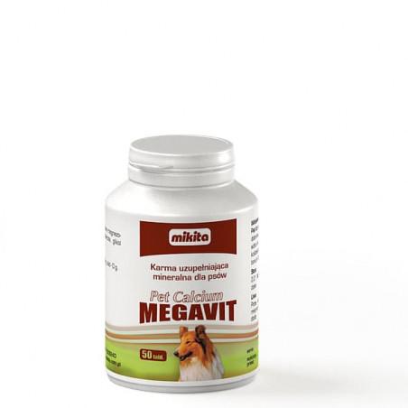 MIKITA Pet Calcium MEGAVIT wapń magnez 50 tabl