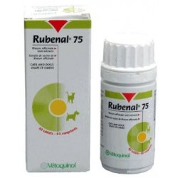 VETOQUINOL Rubenal 75mg -wspomaganie nerek 60tabl
