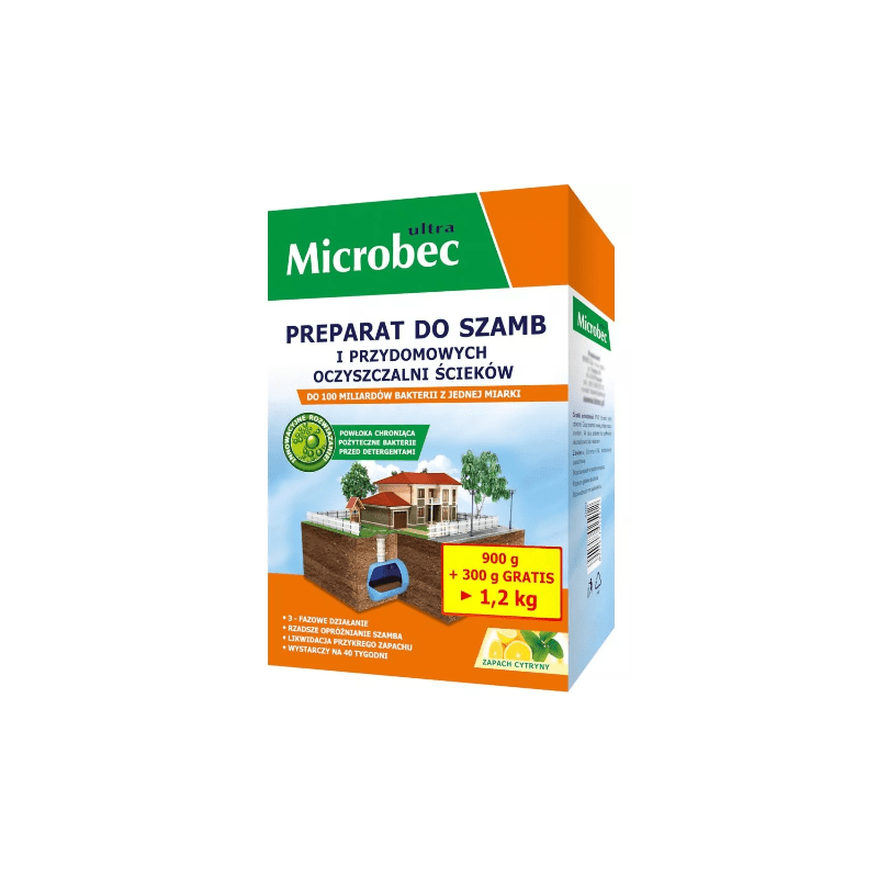 BROS Microbec Ultra - Preparat do szamb 1,2kg