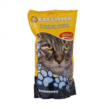 MILUŚ Żwirek silikonowy dla kota 3,8 L