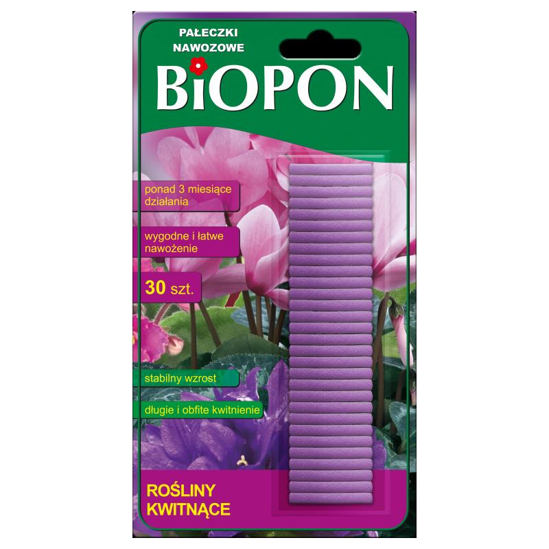 BIOPON Pałeczki nawozowe rośliny kwitnące 30szt