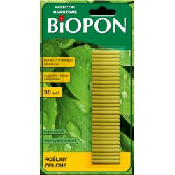 BIOPON Pałeczki nawozowe rośliny zielone 30szt