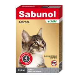 Sabunol obroża dla kota przeciw pchłom szara
