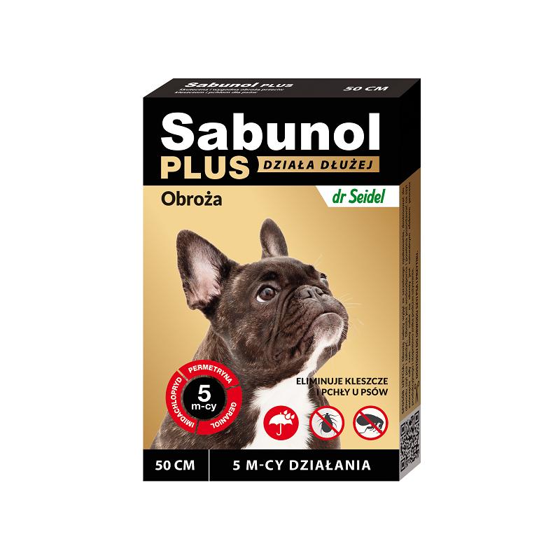 Sabunol Plus obroża p kleszczom i pchłom psa 50cm
