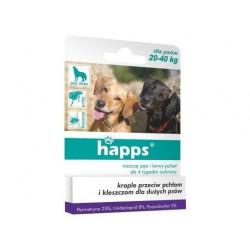 HAPPS krople na pchły i kleszcze - psy 20-40 kg