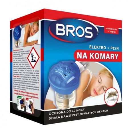 BROS elektro + płyn na komary na 60 nocy