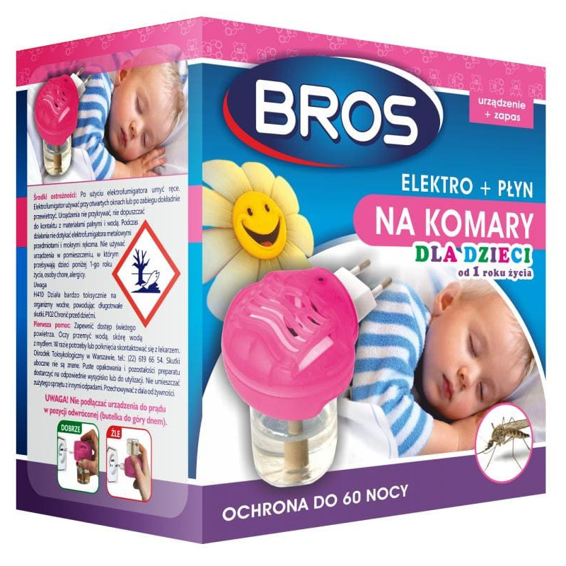 BROS elektro + płyn na komary dla dzieci