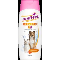 AMIWET szampon 2w1 dla psów i kotów 200 ml