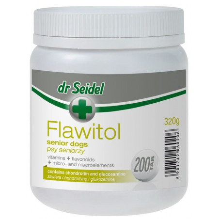 DR SEIDEL Flawitol dla psów seniorów 200 tabletek
