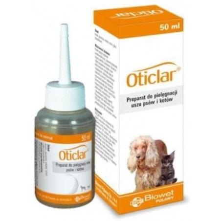 BIOWET Oticlar - preparat do czyszczenia uszu pies/kot 50 ml