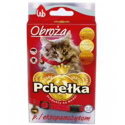 PCHEŁKA obroża odblaskowa na pchły kleszcze kot