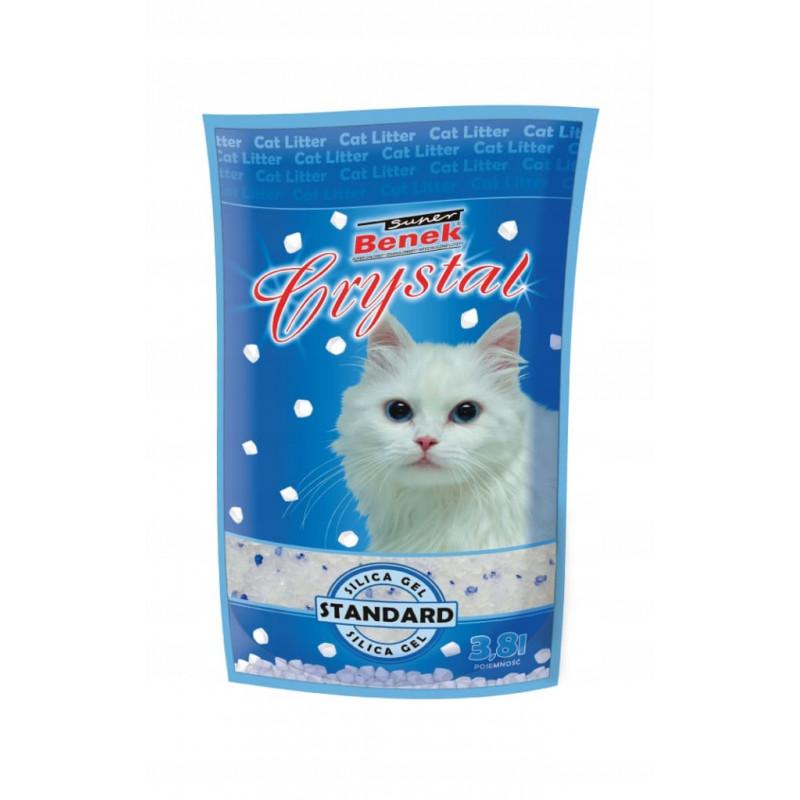 SUPER BENEK CRYSTAL STANDARD 3,8L żwirek dla kota