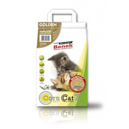 SUPER BENEK CORN CAT GOLDEN 7L żwirek dla kota