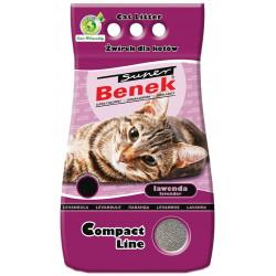 SUPER BENEK Compact lawenda 10L żwirek dla kota