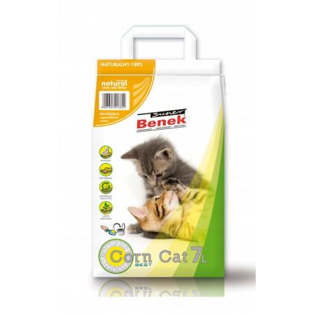 SUPER BENEK Corn Cat Naturalny Zbrylający 7L