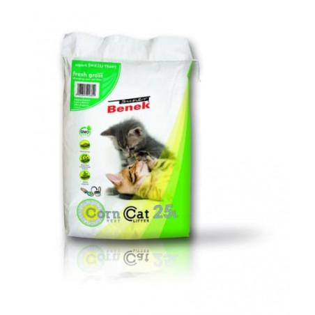 Żwirek Super Benek Corn Cat Zapach Trawy 25L