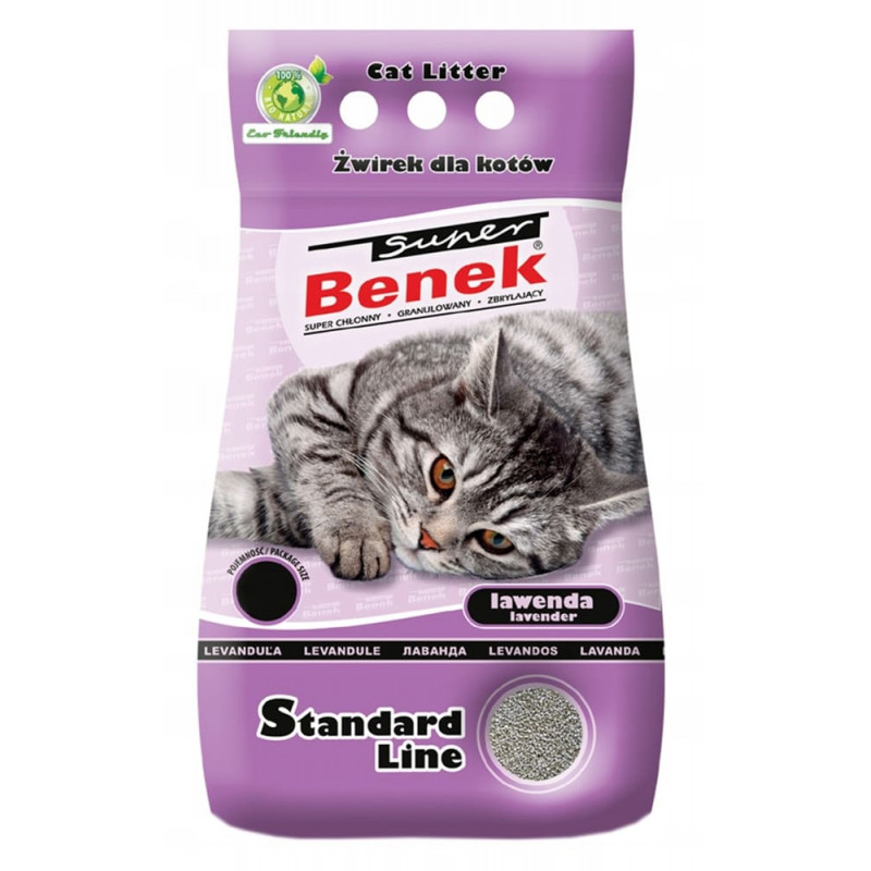 SUPER BENEK LAWENDA 25L żwirek dla kota