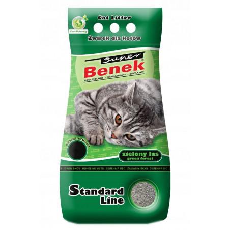 SUPER BENEK ZIELONY LAS 25L żwirek dla kota
