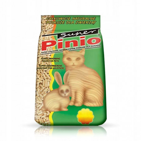 SUPER PINIO Pellet naturalny 5l żwirek drewniany